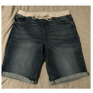 Girls Size 20 Plus Justice Denim Shorts Stretchy